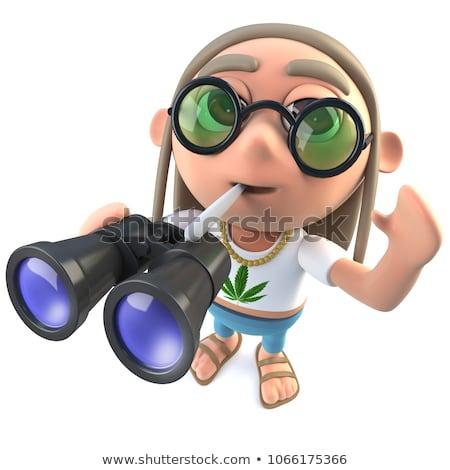 3d-render-funny-cartoon-hippy-450w-1066175366
